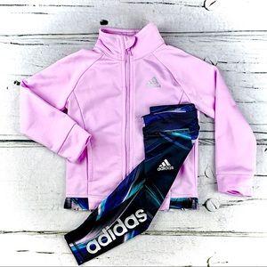 ADIDAS :: 2 Pc Zip-Up Jacked & Printed Tiights